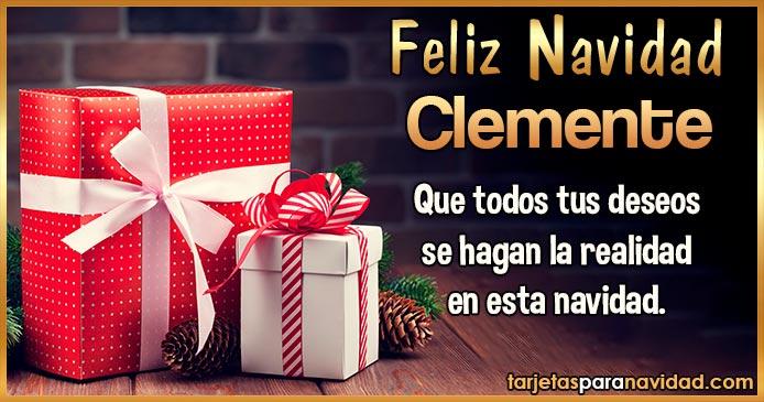 Feliz Navidad Clemente