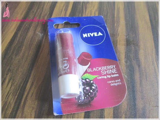 Nivea Blackberry Shine Caring Lip Balm Review and Swatches: