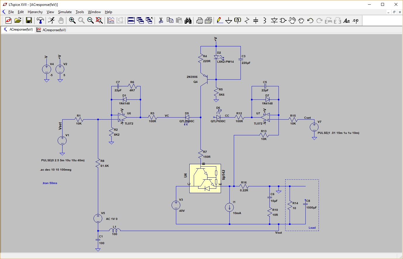 Pauls Diy Electronics Blog My New Power Supply Design Project Part 2 Testingelectroniccomponents 2methodsfortestingmosfetshtml I Also Use This For The Step Response Measurements So Some Artifacts Are Already In Schematic Wont Go Into Many Details Because May Mislead You