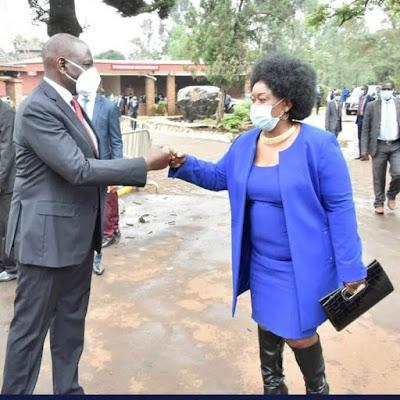 DP William Ruto and Millie Odhiambo