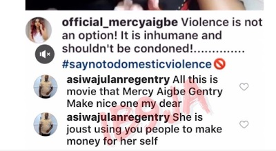 Mercy Aigbe confronts her estranged husband with DM evidence of him begging her, after he claims she's a liar