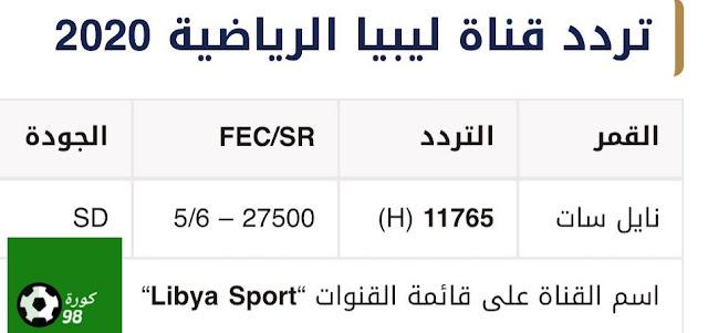 تردد قناة ليبيا الرياضية المفتوحة الناقلة لمباراة ريال مدريد وفالنسيا