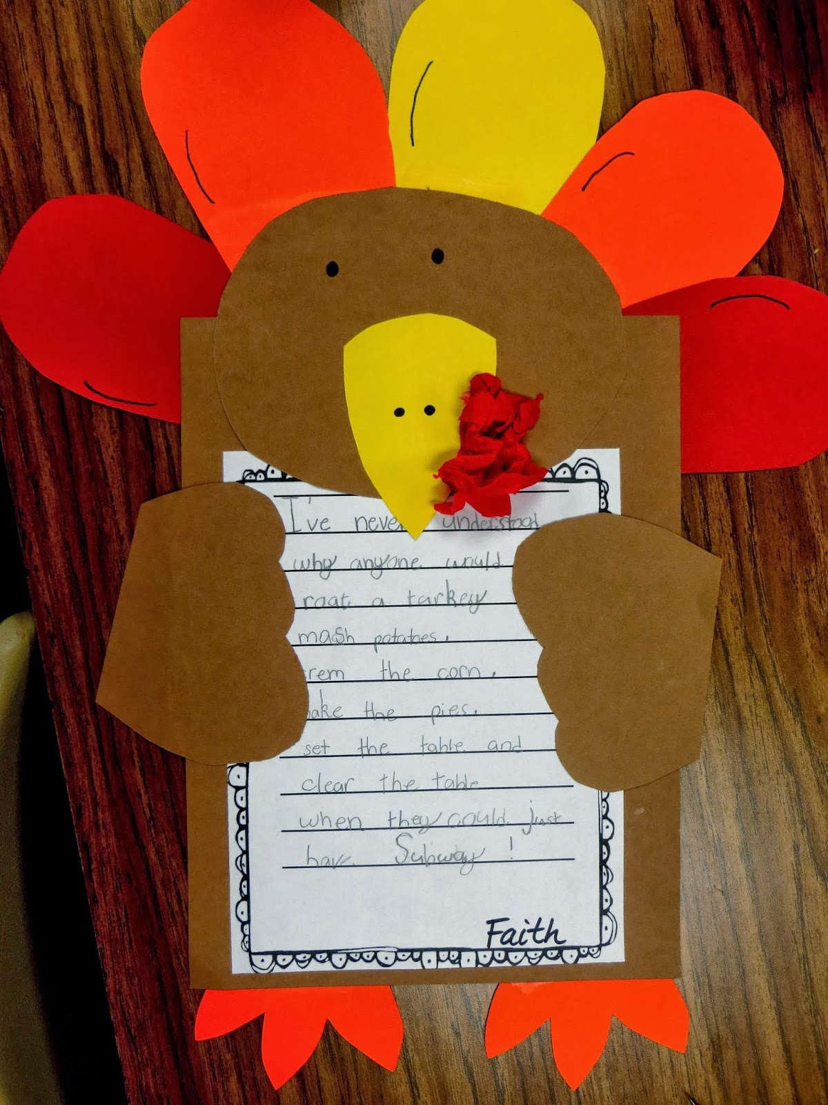 First Grade Wow Turkey Trouble Just Serve