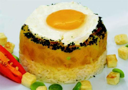 Locro de zapallo con huevo