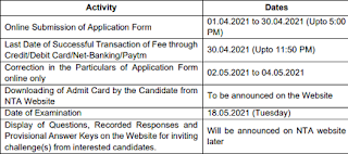 UPCET 2021 Exam Date Last date of online form