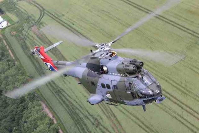 Spektakuler, AU Inggris Rayakan 50 Tahun Pengabdian Helikopter Puma