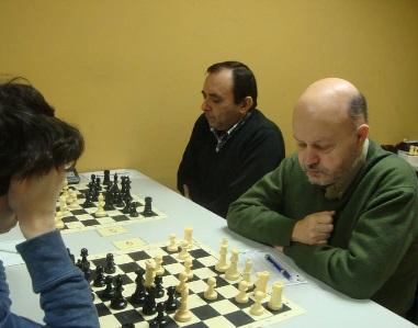 Los ajedrecistas del Granollers Julio Honorio Fernández y Jaume Costa en 2015