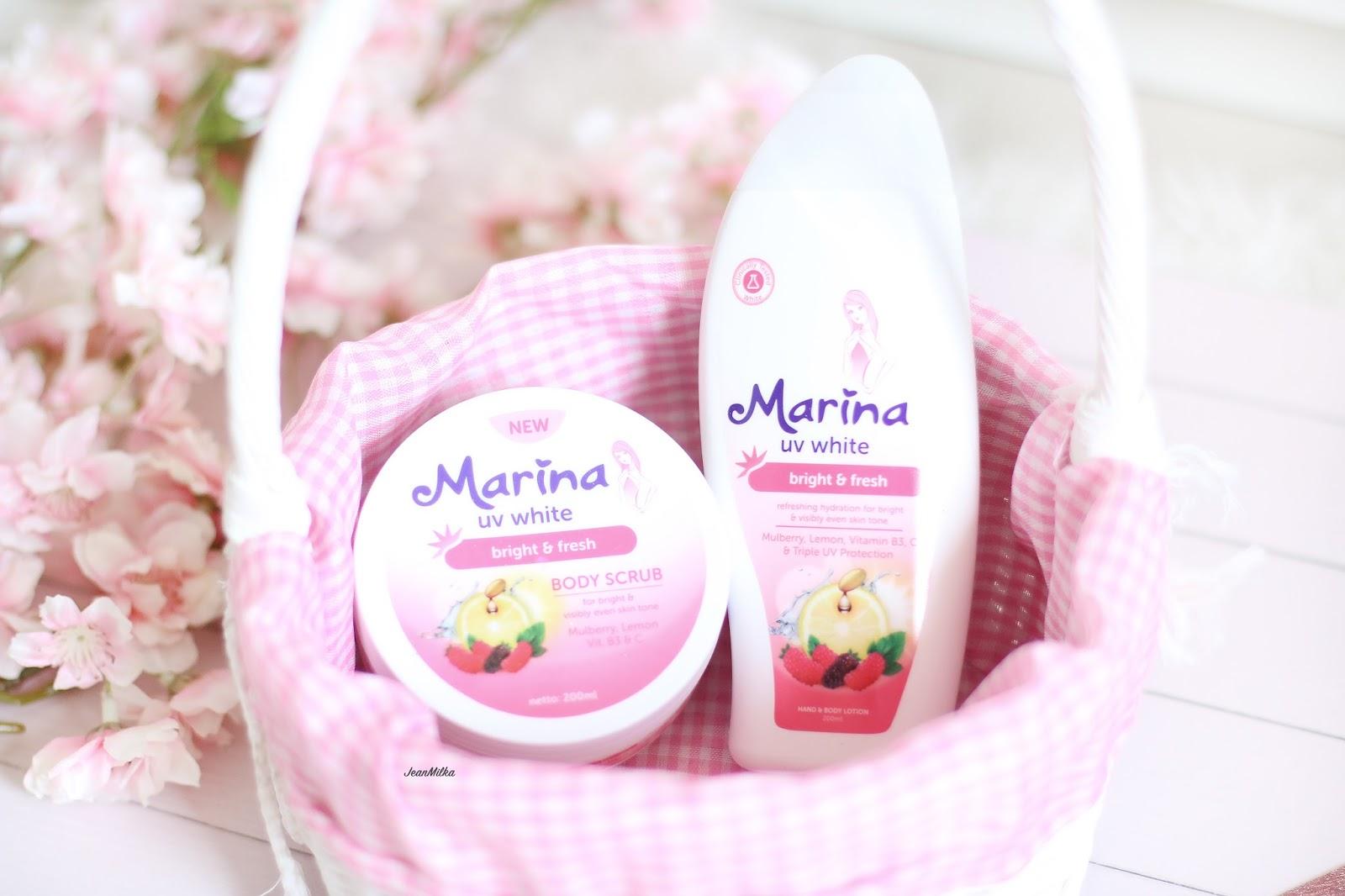 marina, marina body scrub, marina body lotion, review, product review, marina lotion, marina scrub, kulit mulus cerah, body care