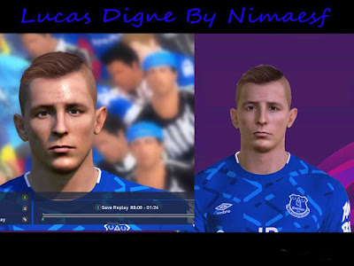 PES 17 Lucas Digne Face By Nimaesf