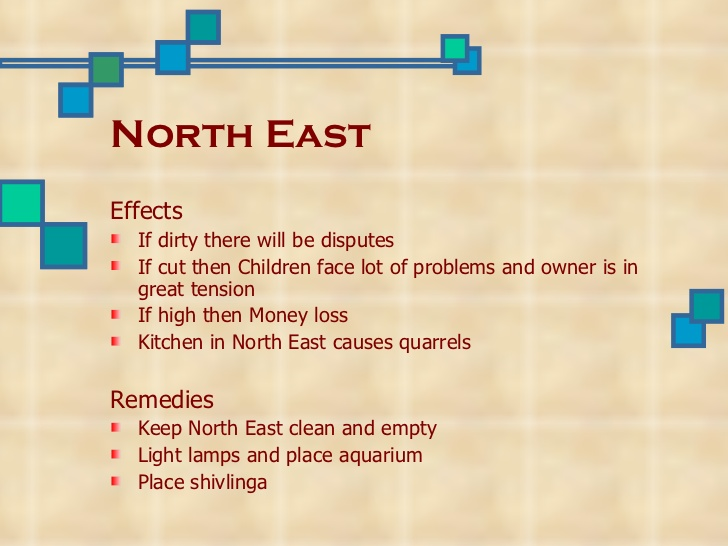 Astrology and vastu north east vastu defects and remedies Master bedroom in north east vastu