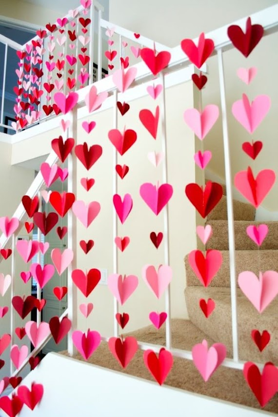 Easy crafts with heart paper