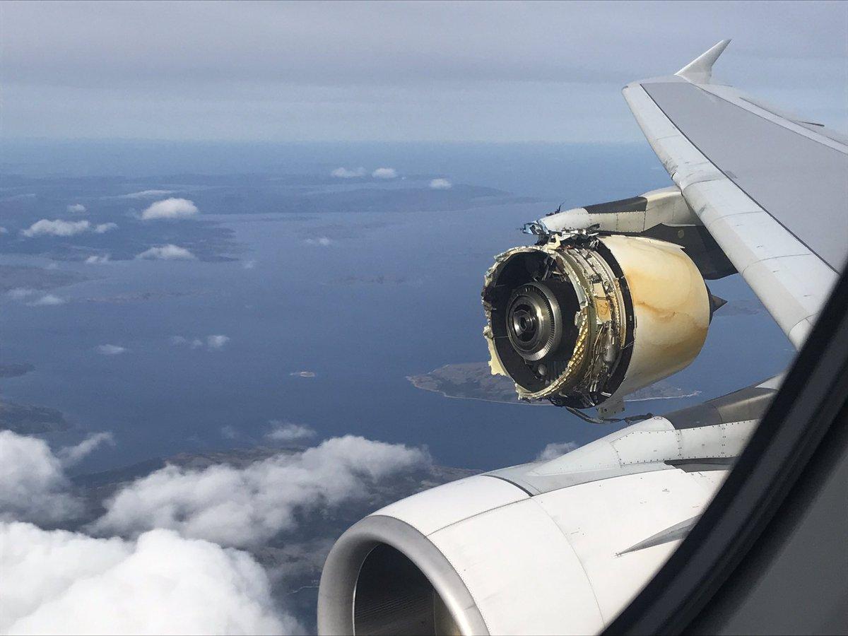 Air France Airbus A380 Flight AF66 suffer mid-air engine