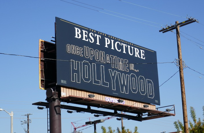 Once Upon Time Hollywood Best Picture neon billboard