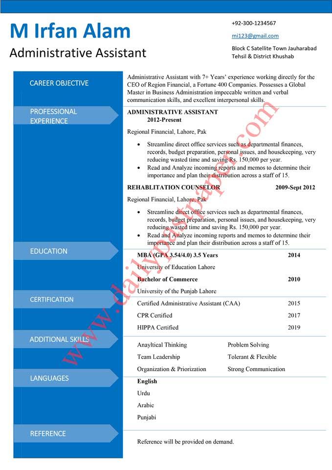 Free Teacher Resume Template Microsoft Word Download