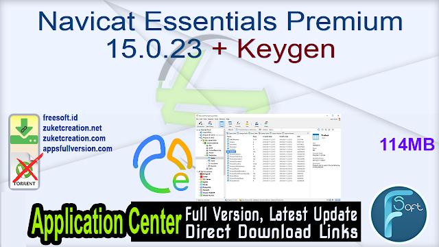 Navicat Essentials Premium 15.0.23 + Keygen