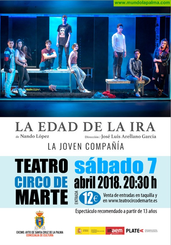Se ponen a la venta las entradas para 'La edad de la ira', la primera actuación de La Joven Compañía en Canarias