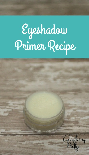 How to make DIY eyeshadow primer. This has 3 easy recipes and a tutorial for homemade primer DIY Make this without cornstarch and without foundation.  Also has a natural recipe for oily skin and oily eyelids. If you need homemade ideas and hacks for diy makeup, check this out.  #eyeprimer #diy #makeup