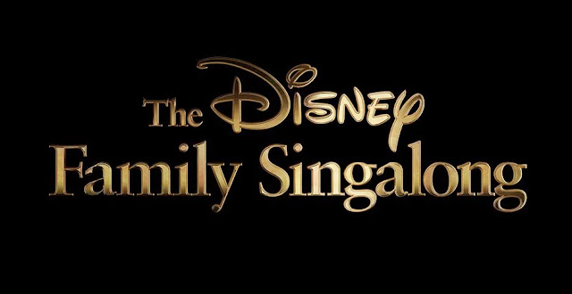 disney family singalong poster in black background