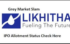 IPO Likhitha Infrastructure Grey Market Premium Slam