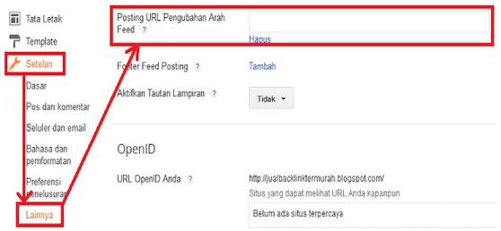 cara memasang feed pada blog