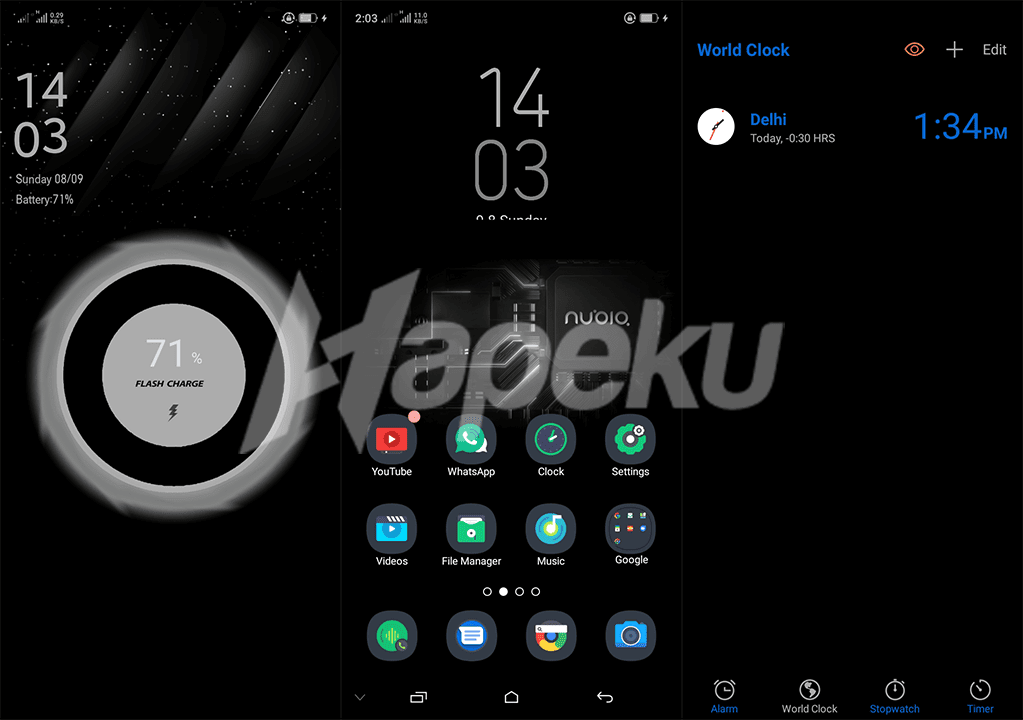 Screenshot Theme Blacky Fix Color OS 6