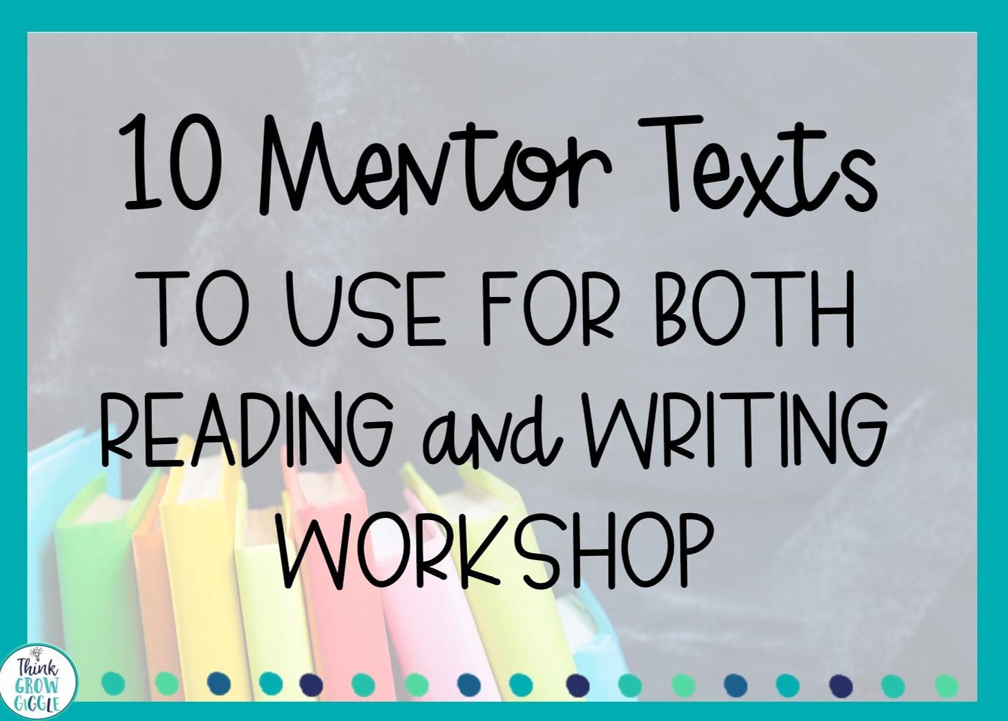 upper elementary mentor texts
