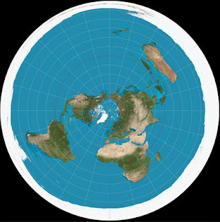 Peta Bumi Datar (testingtheglobe.com)