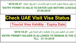 UAE Tourist visa status