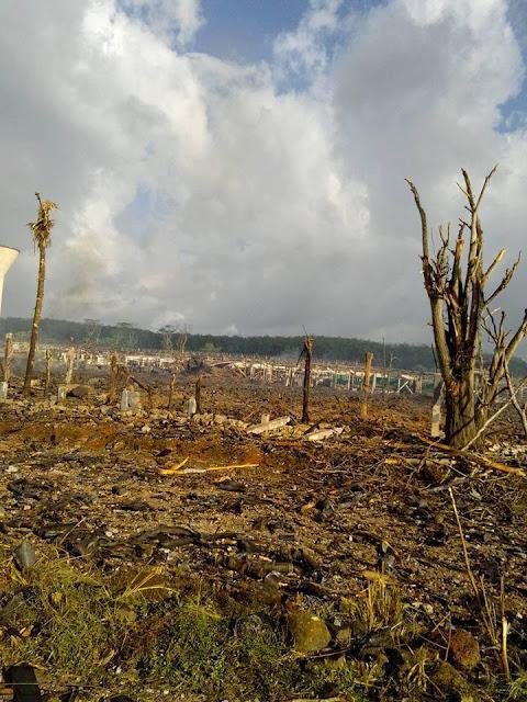 Kosgama Army armoury fire