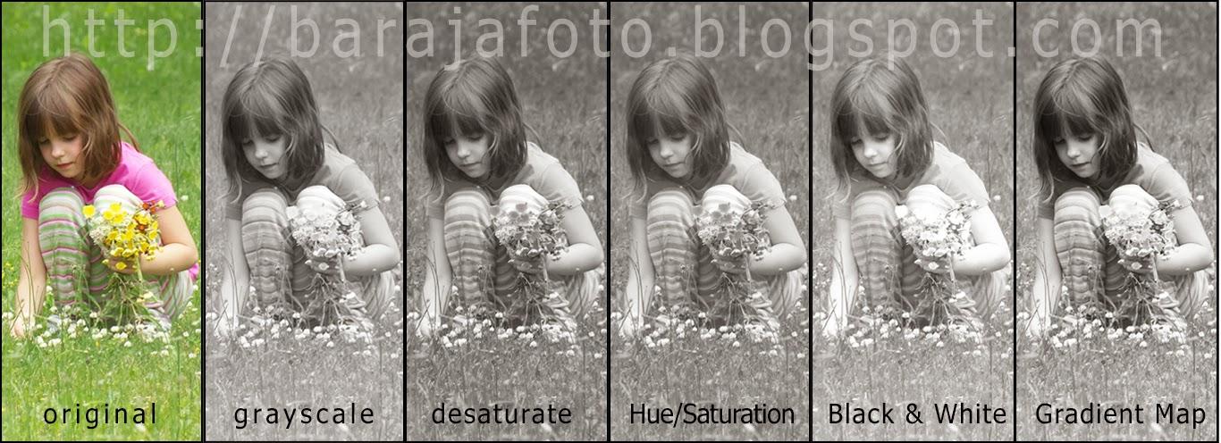 Merubah foto warna menjadi hitam putih