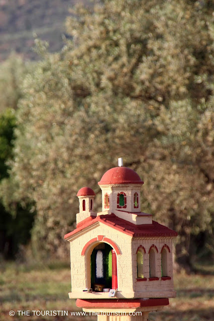 Tiny model of a church in Greece