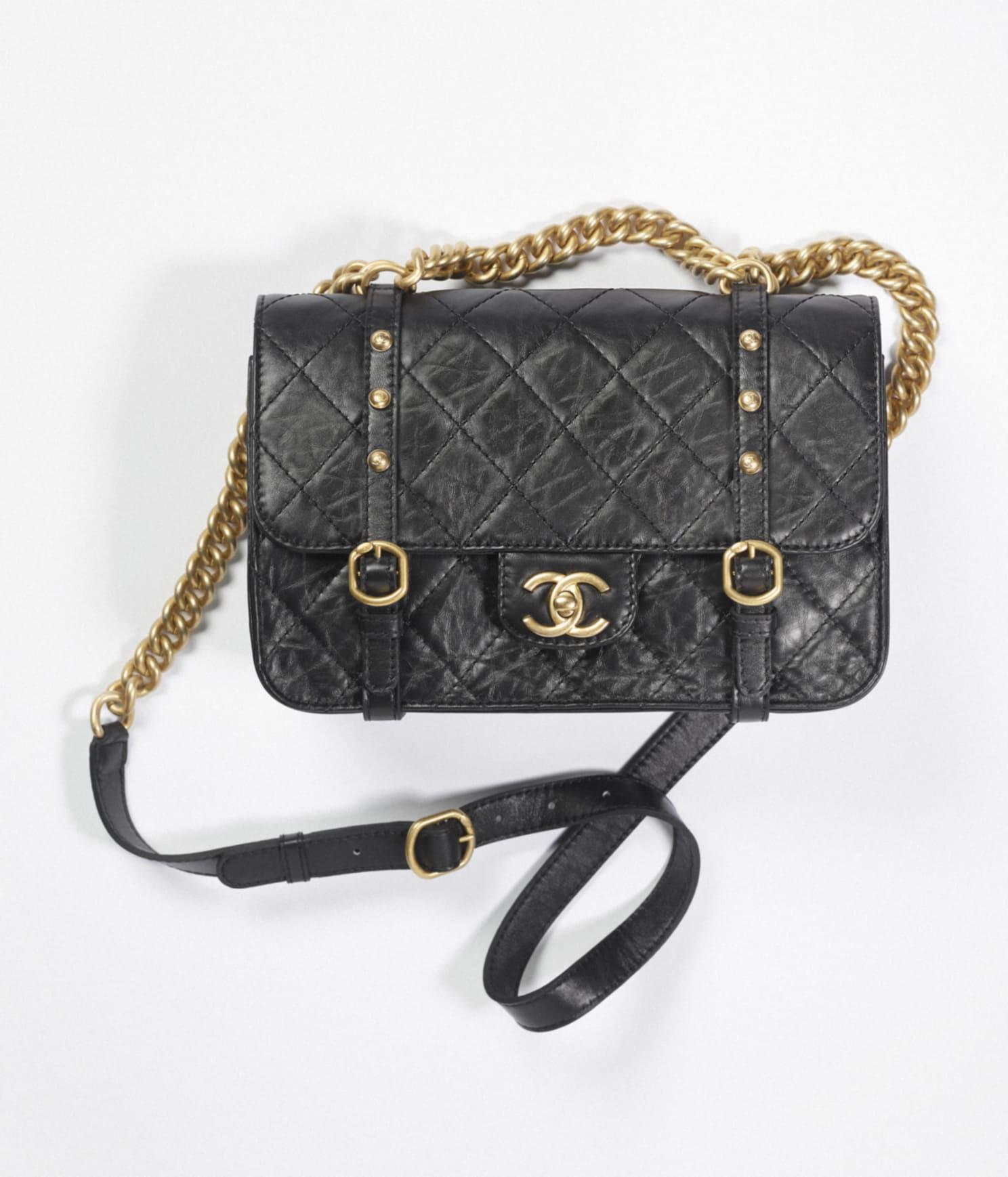 Chanel aged calfskin flap bag