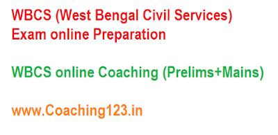 WBCS online coaching, WBCS online preparation - WBCS prelims, WBCS mains