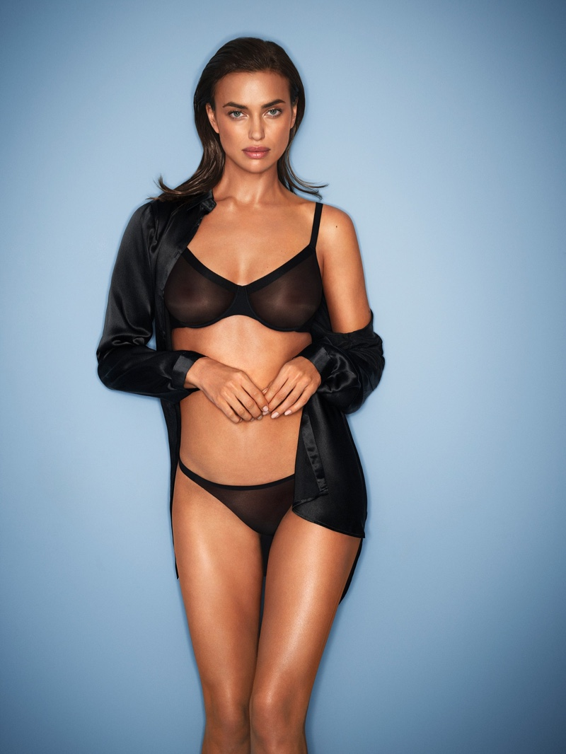 Irina Shayk stars in Intimissimi Invisible Touch lingerie campaign.