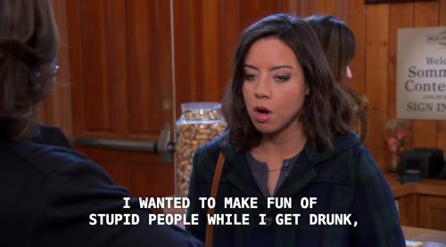 April parks and rec alcohol