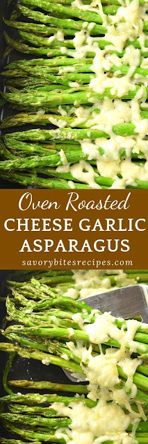 oven roasted cheese garlic asparagus