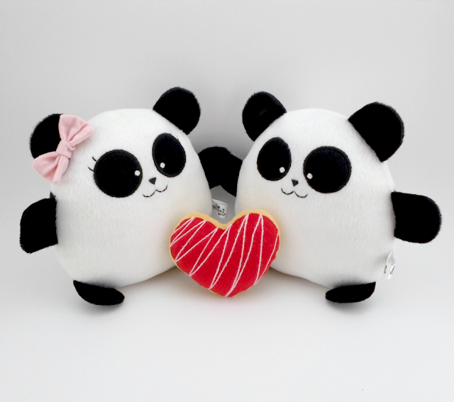 Pareja de boda personalizada, pandas de peluche guyuminos novios kawaii regalo aniversario plushies plush toy gift couple anniversary wedding