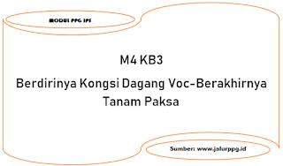 berdirinya kongsi dagang voc berakhirnya tanam paksa m4 kb4