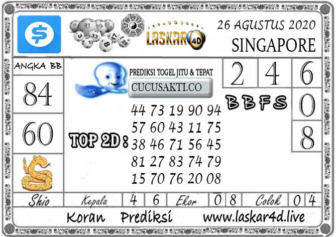 Prediksi Togel SINGAPORE LASKAR4D 26 AGUSTUS 2020Prediksi Togel SINGAPORE LASKAR4D 26 AGUSTUS 2020