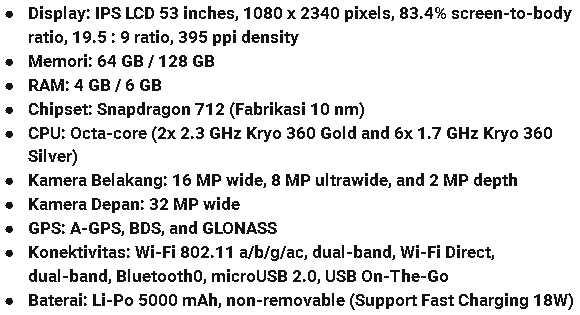 Spesifikasi HP Vivo Z1 Pro
