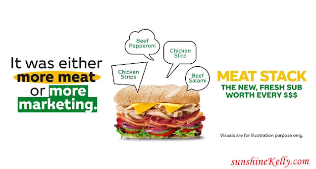 Subway Meat Stack Sub, Subway Malaysia, Subway, Meat Stack Sub, Meaty Sandwich, Food