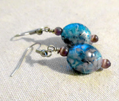 90s hacker cybertwee computer science blogger gamer blue silver purple sciart earrings
