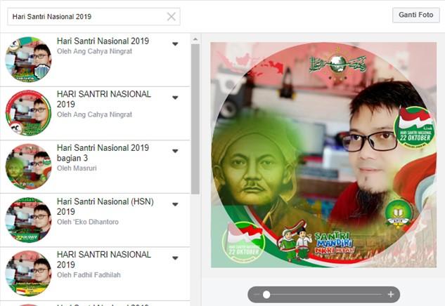 Ubah Foto Profil Facebook Dengan Frame Hari Santri Nasional 2019