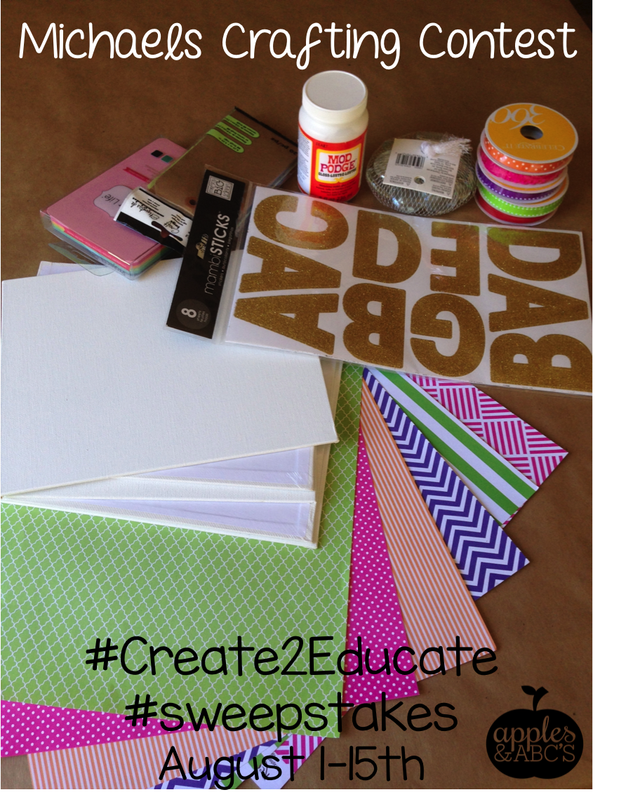 create2educate with Michaels    A Crafting Contest! - Apples