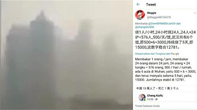 Muncul Kabut Asap di Kota Wuhan
