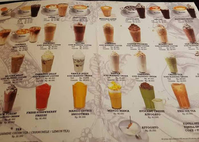 menu opal coffee