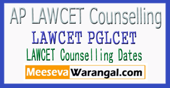 AP LAWCET Counselling 2018 LAWCET(PGLCET) Counselling Dates 2018