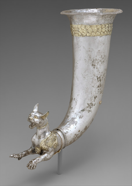 Animals in Art - this rhyton is part of Companion Animal Psychology's latest newsletter