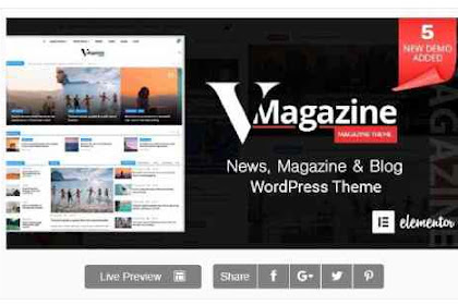 Download Vmagazine Multi-Concept News WordPress Theme