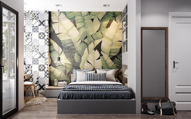 Modern Bedroom Wall Decorating Design Ideas